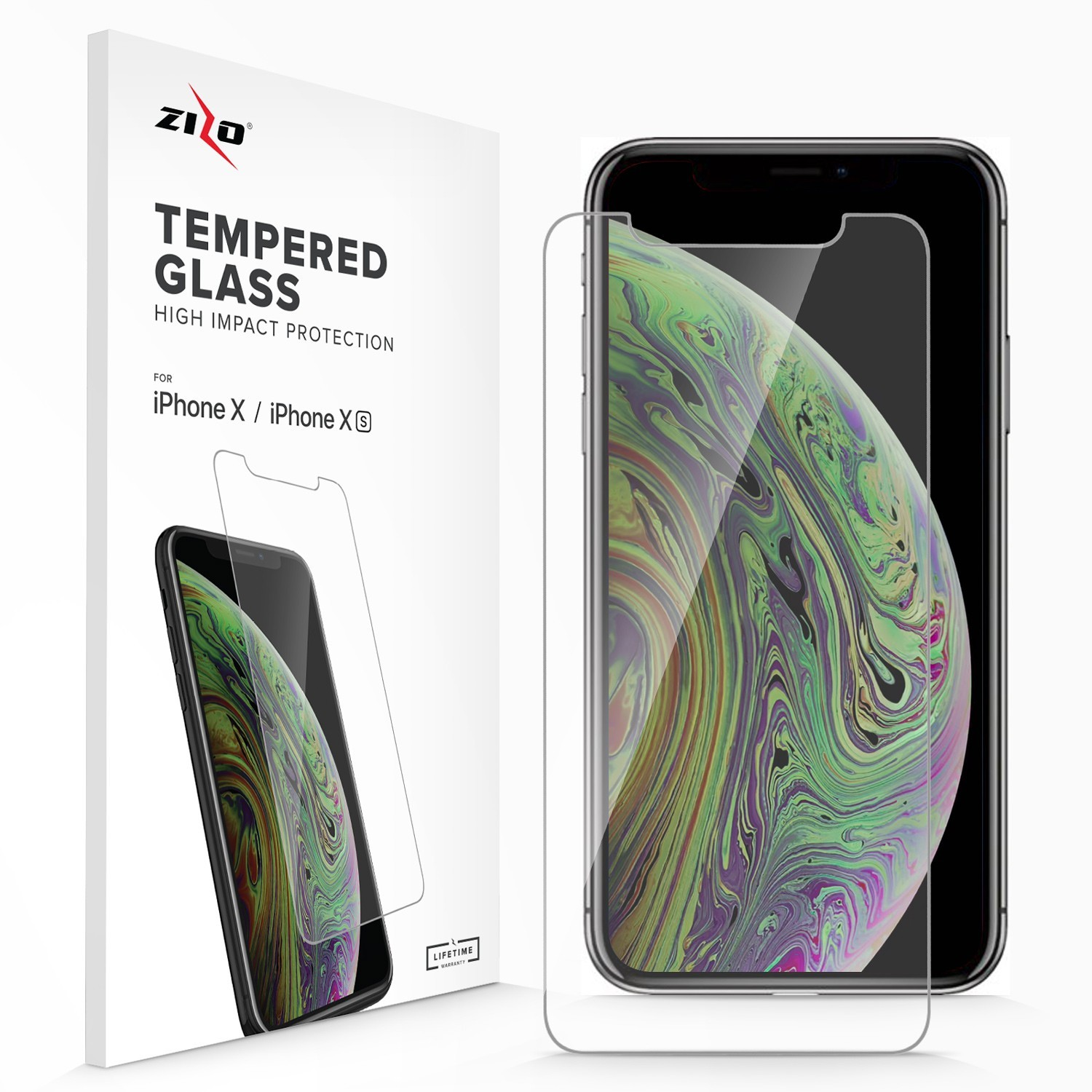 Screen Protector - ZIZO Tempered Glass for iPhone 11 Pro & iPhone Xs/X