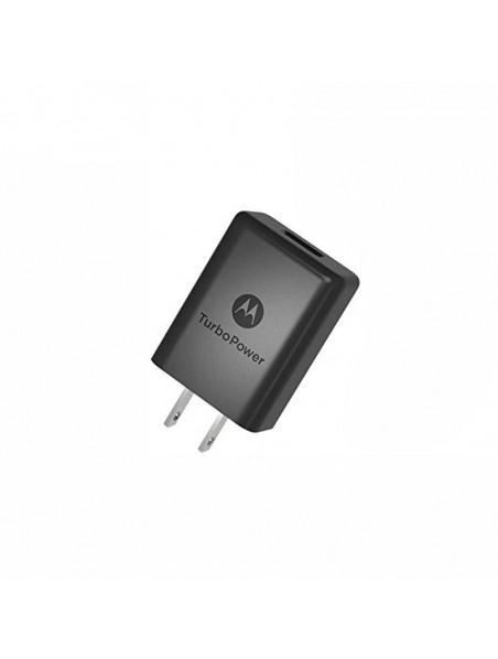 Cargador AC MOTOROLA USB 2Amp Turbo Power 15 Universal (SIN CABLE) negro (sin empaque)