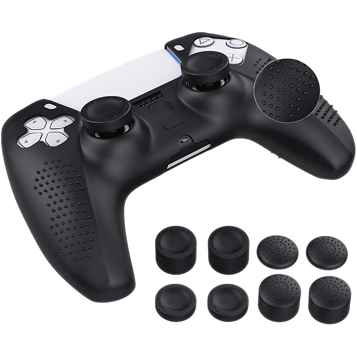Case - Silicon skin for Playstation PS5 controller - Black