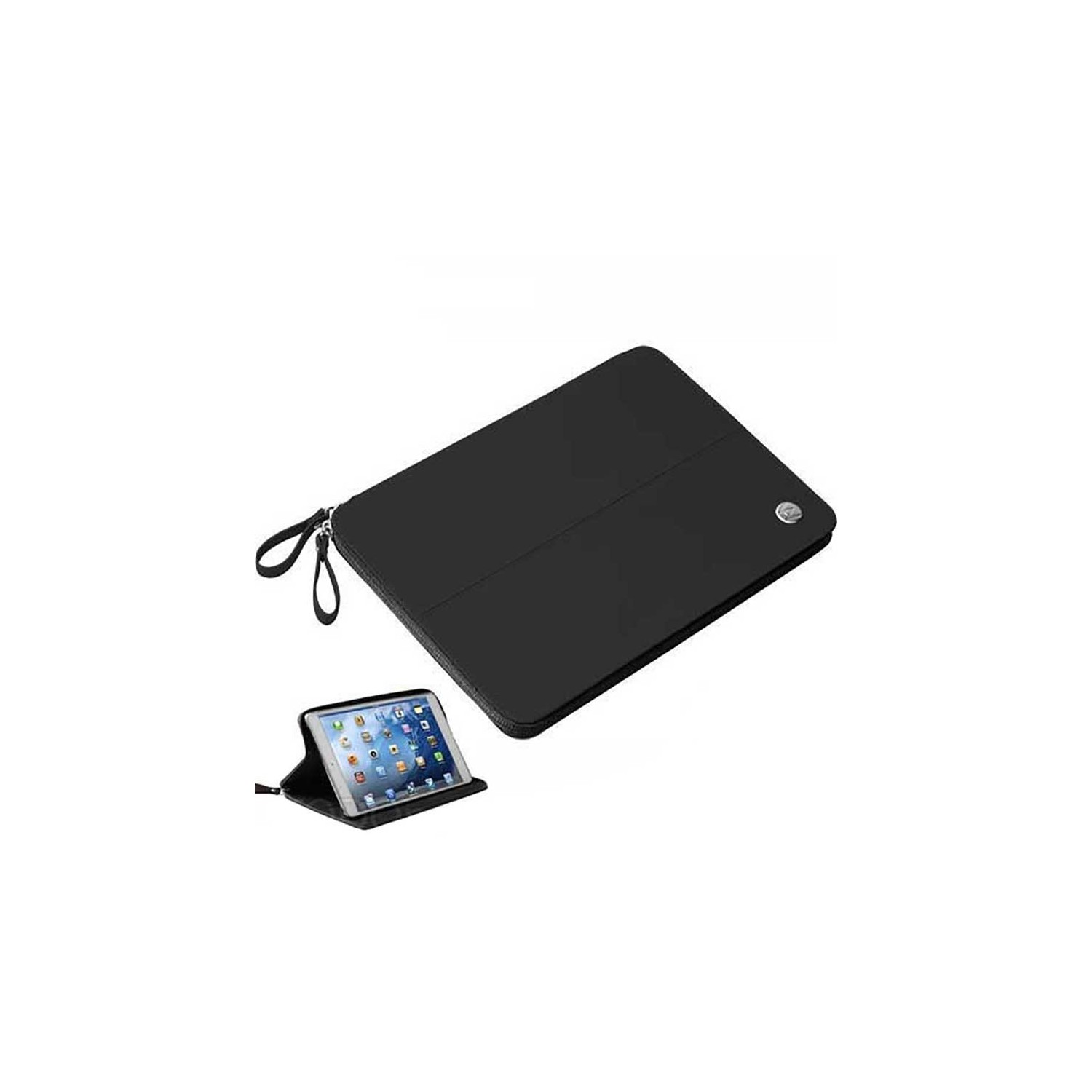 Case - Walk on Water Drop Off Carry Stand Case for iPad Air - Black