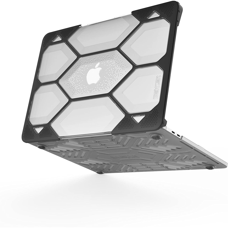 . Funda IBENZER HexPact MacBook PRO 13 Touchbar NG A2159 A1706 A1708 A1989 Transparente/Negro