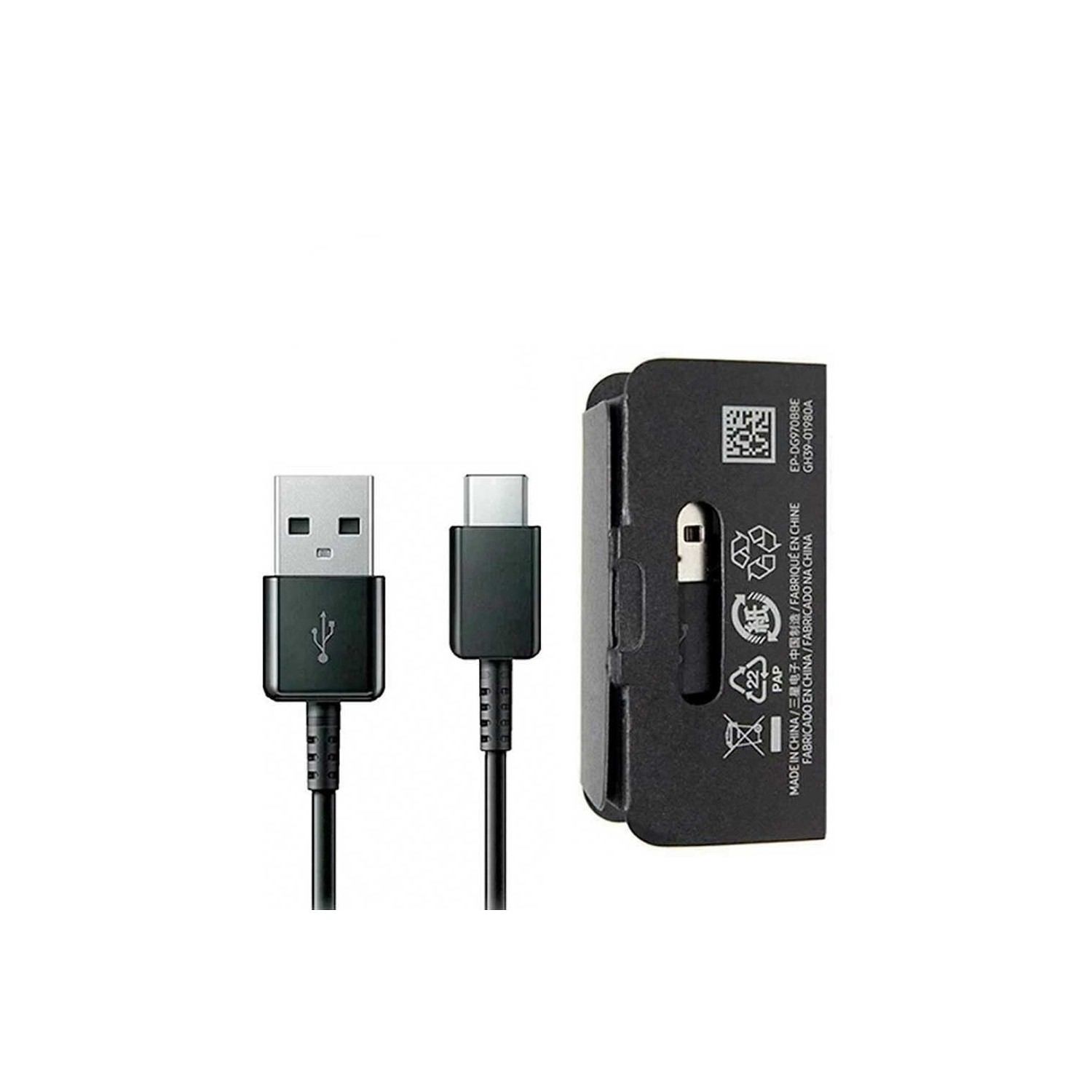 Cable Datos SAMSUNG USB-A a USB-C - Negro - 1m Universal