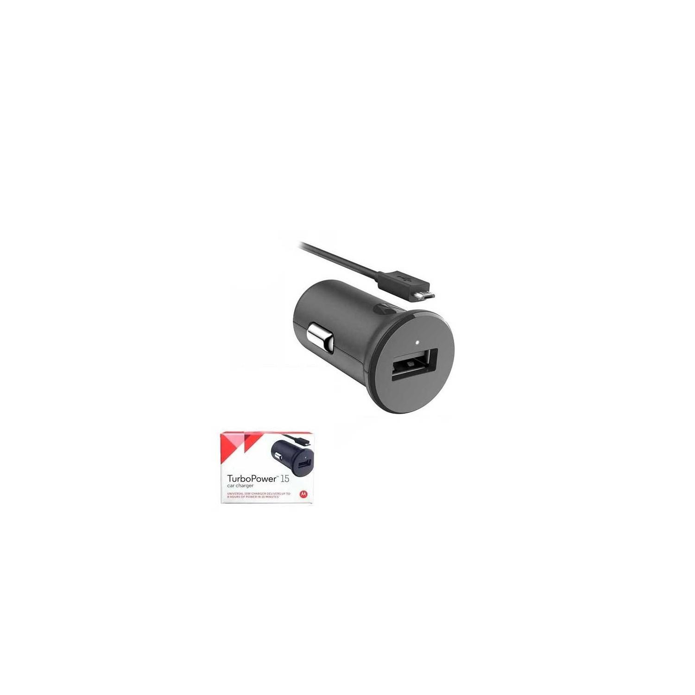 Cargador Auto Plug in MOTOROLA Turbo Micro USB 15W universal