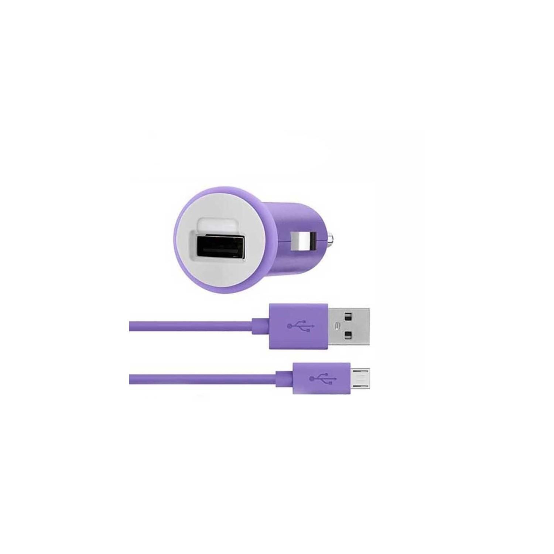 Cargador Plug Auto Micro USB BELKIN Universal 2.1A Lila