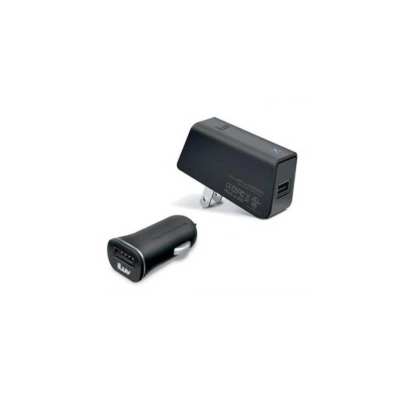 Cargador AC + Auto Plug In USB carga rapida marca iLuv 2Amp (SIN CABLE)