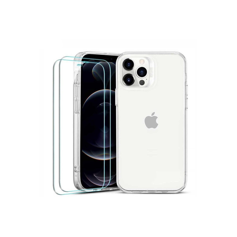 . Funda ESR Hybrid case para iPhone 12 PRO MAX + 2 Mica Cristal - Transparente