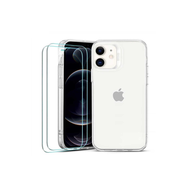. Funda ESR Hybrid case para iPhone 12 MINI + 2 Mica Cristal - Transparente