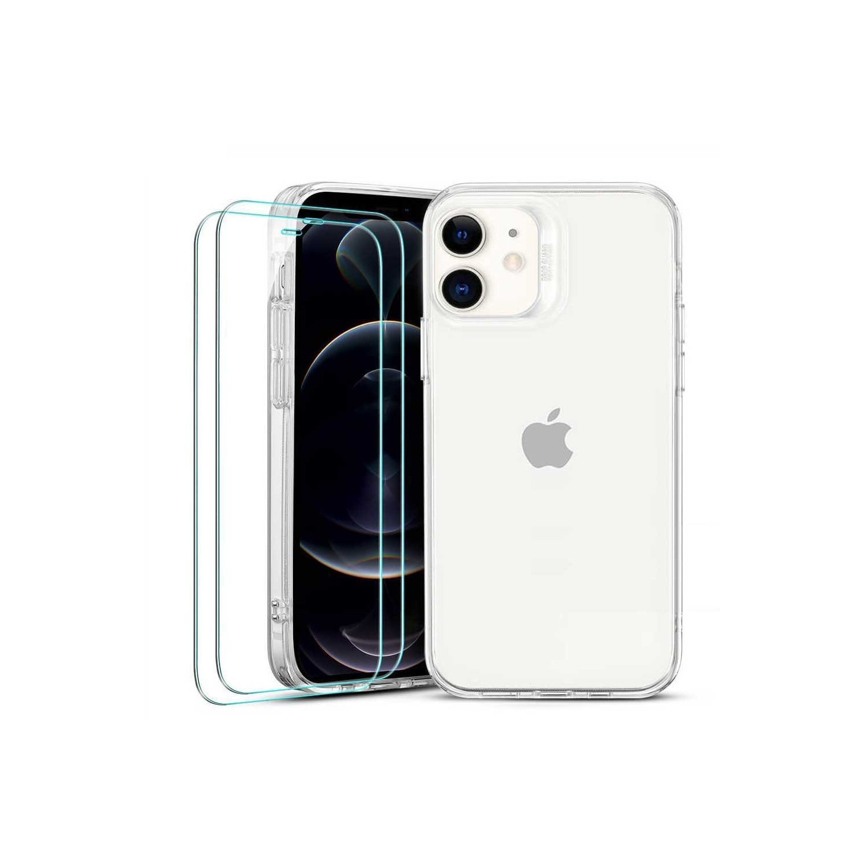 Case Combo - ESR Hybrid for iPhone 12 MINI + 2 Glass Screen Protectors - Clear