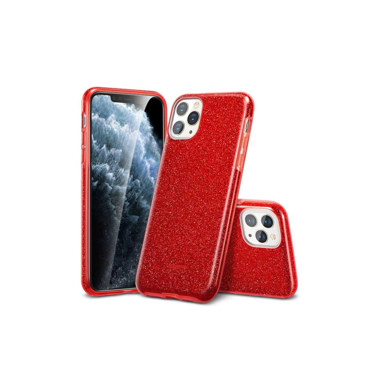 Case - ESR Makeup Glitter for iPhone 11 PRO - Red