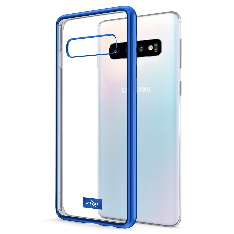 . Funda ZIZO Refine para SAMSUNG S10 PLUS Transparente / Azul