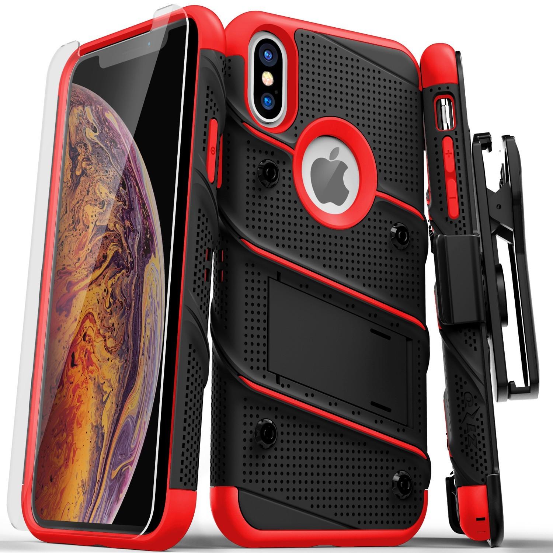 . Funda ZIZO Bolt iPhone X/Xs Negro/Rojo