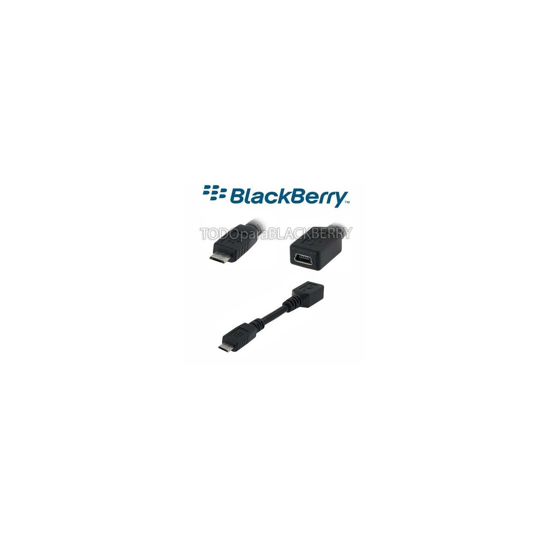 Cable Adaptador Mini USB a Micro USB Original Blackberry