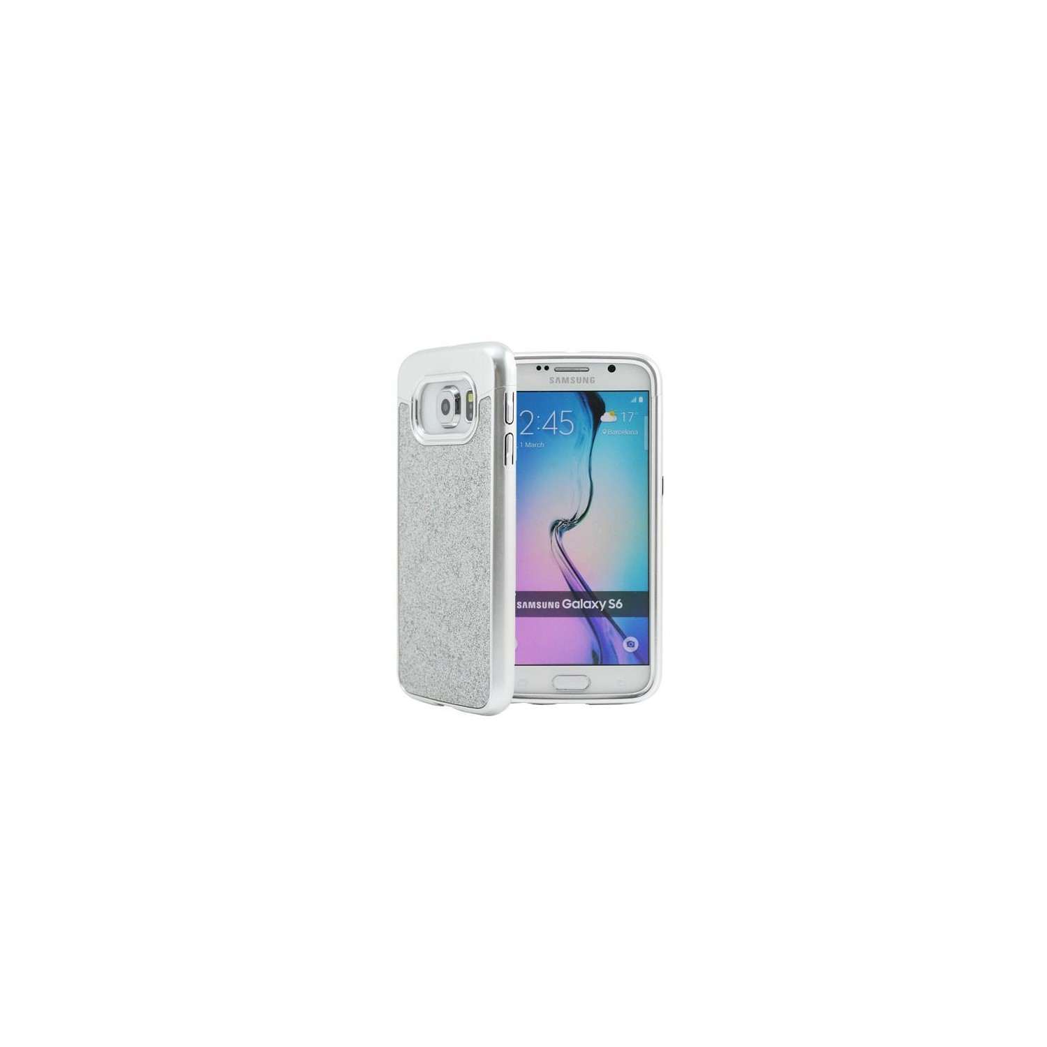 Case -  Prodigee Sparkle Fusion for Samsung S6 - Silver