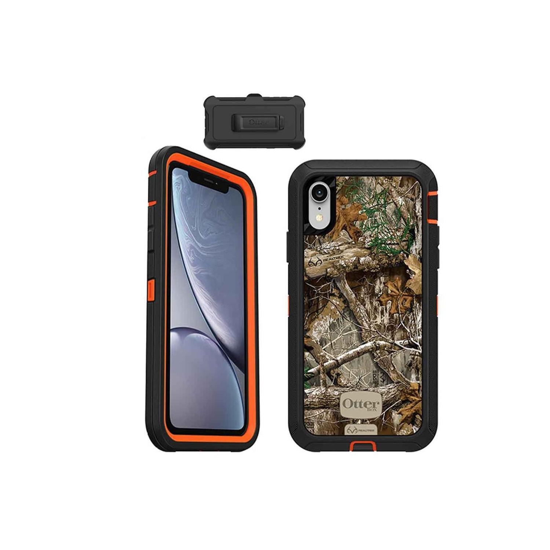 . Funda OTTERBOX Defender para iPhone XR REALTREE Uso Rudo con Clip giratorio