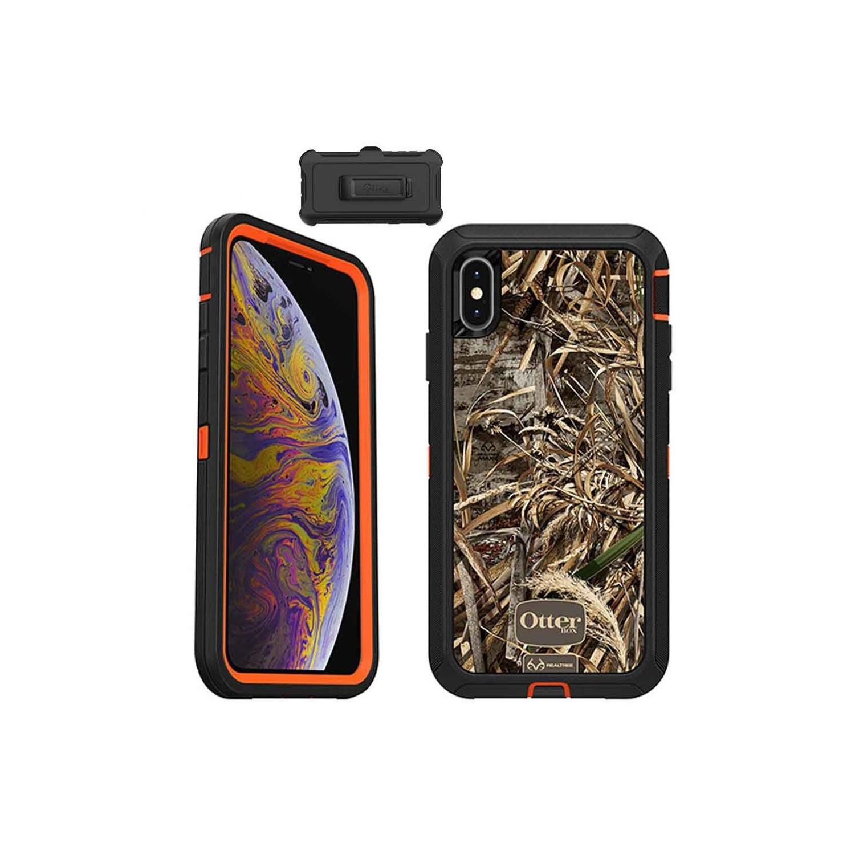 . Funda OTTERBOX Defender para iPhone Xs MAX Camo Realtree Uso Rudo con Clip giratorio