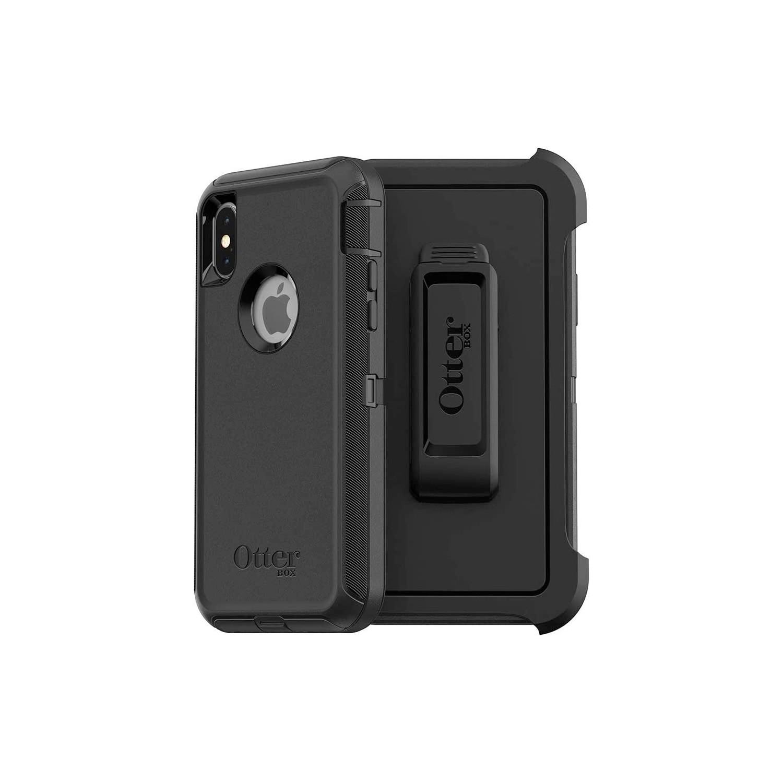 . Funda OTTERBOX Defender para iPhone Xs MAX Negra Uso Rudo con Clip giratorio