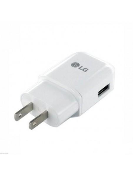 Cargador AC LG 2Amp Universal (SIN CABLE) blanco (sin empaque)