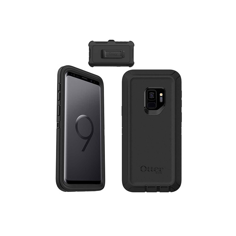 . Funda OTTERBOX Defender Samsung S9 NEGRA Uso Rudo con Clip giratorio