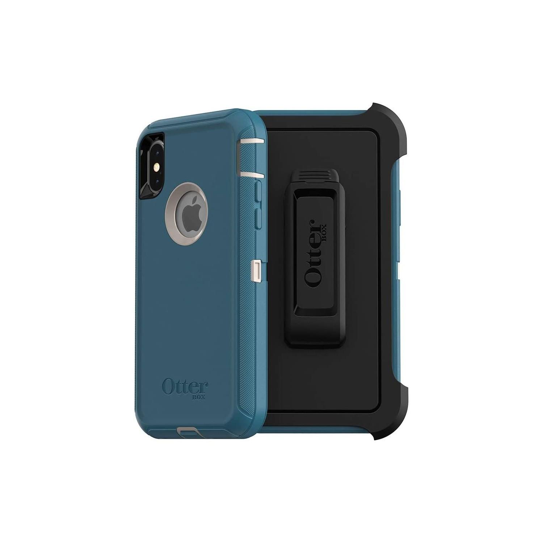 . Funda OTTERBOX Defender para iPhone X y Xs Azul Big Sur Uso Rudo con Clip giratorio
