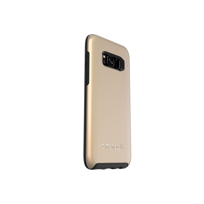 . Funda OTTERBOX Symmetry para Samsung S8 Dorada Metalico