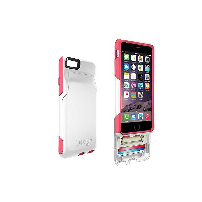 . Funda OTTERBOX Commuter Wallet para iPhone 6 y 6s Blanco Rosa
