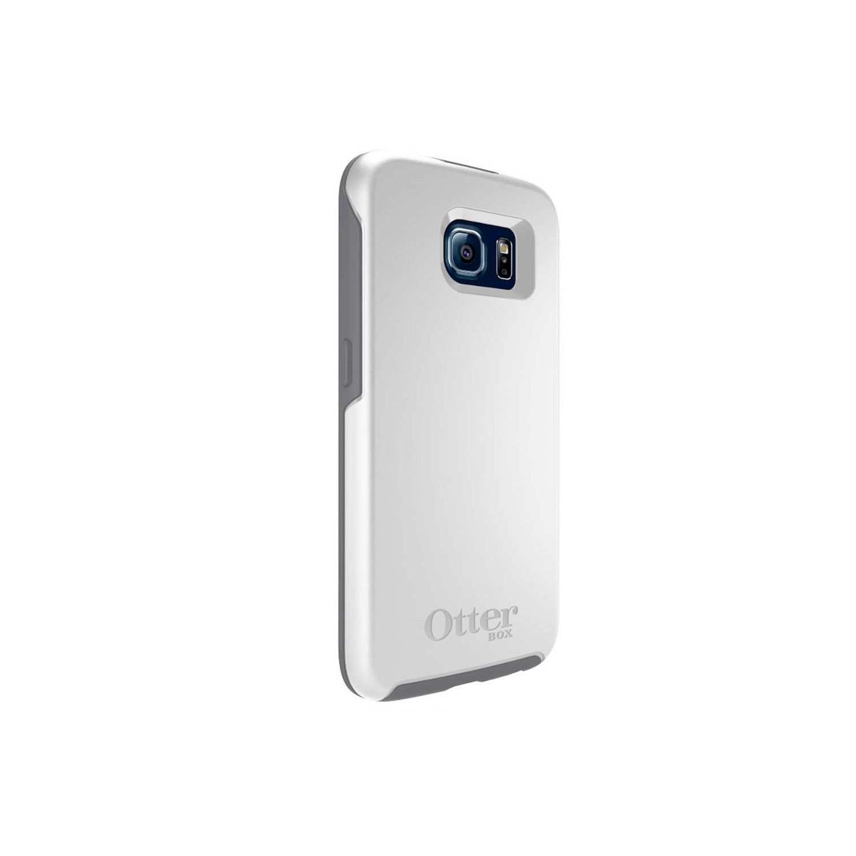 . Funda OTTERBOX Symmetry para Samsung S6 Blanco Gris