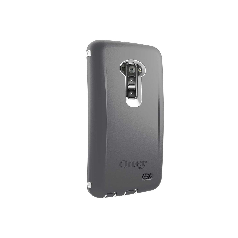 . Funda OTTERBOX Defender para LG G Flex Gris Blanco Uso Rudo con Clip giratorio