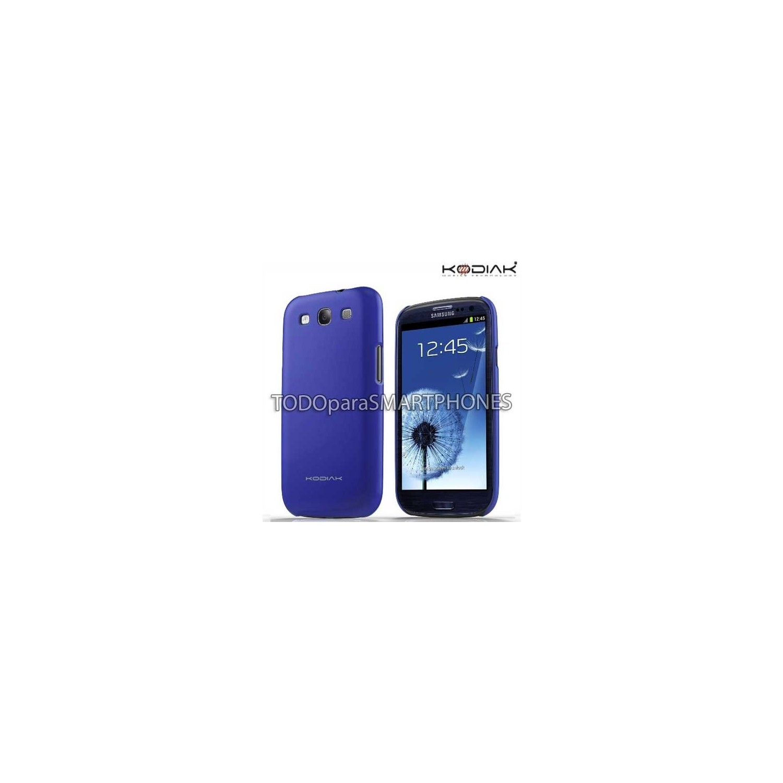 Case Kodiak for Samsung Galaxy S3 with screen protector Gloss Black