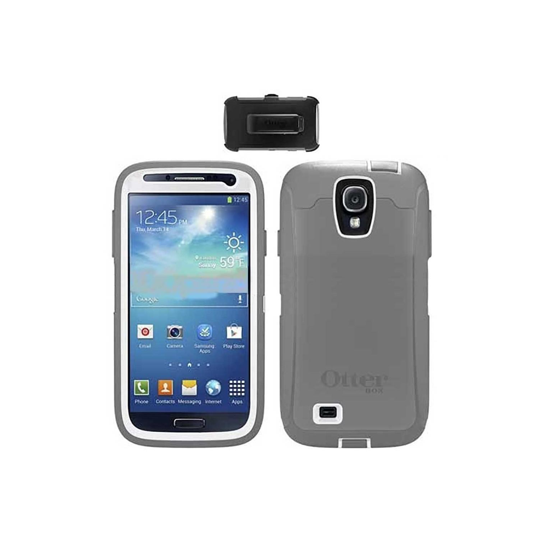 . Funda OTTERBOX Defender para Samsung S4 Gris Blanco clip uso rudo