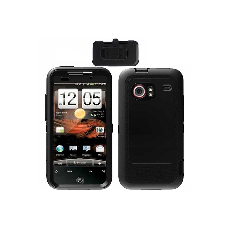 Case - Otterbox Defender HTC Droid Incredible Negra Clip Giratorio estuche uso rudo