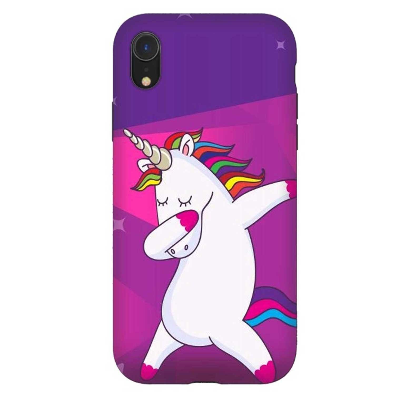. Funda ARTSCASE StrongFit para iPhoneXR Unicornio