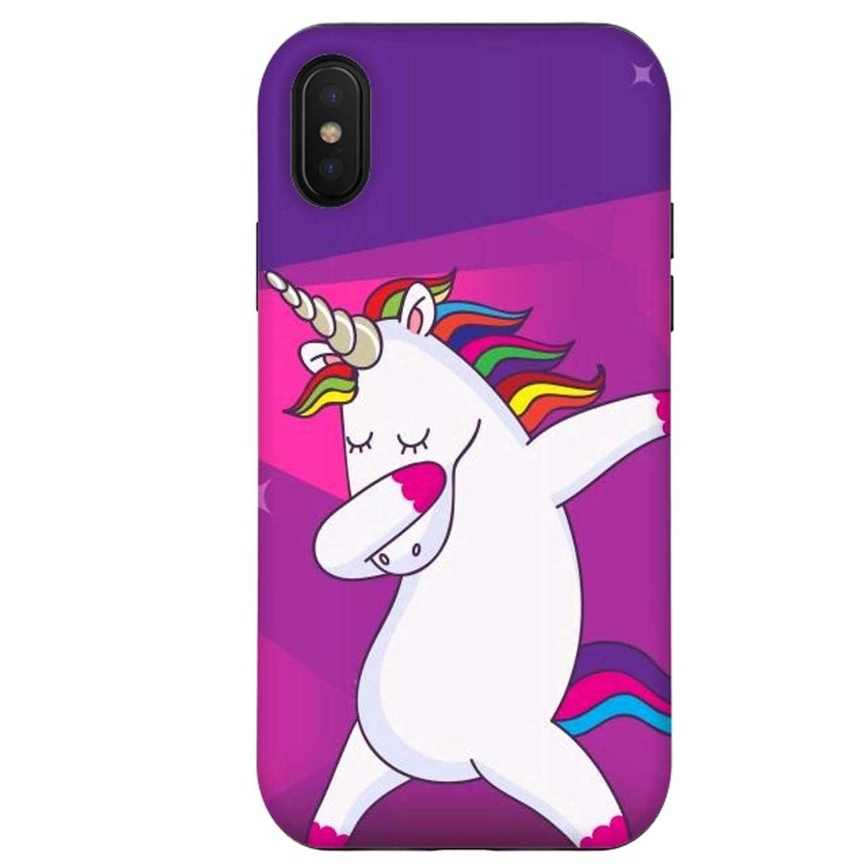 . Funda ARTSCASE StrongFit para iPhone Xs y X Unicornio