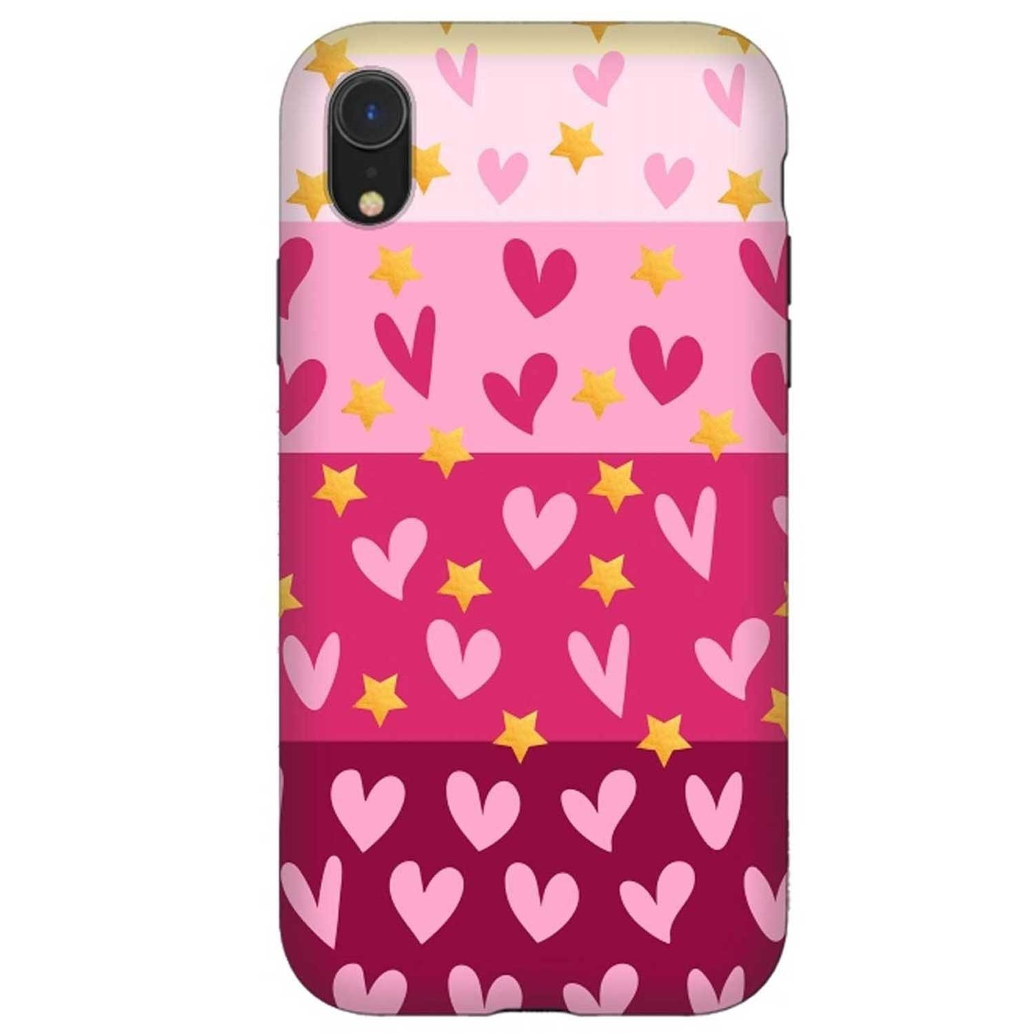 Case - ArtsCase StrongFit for iPhone  XR - Pink Hearts