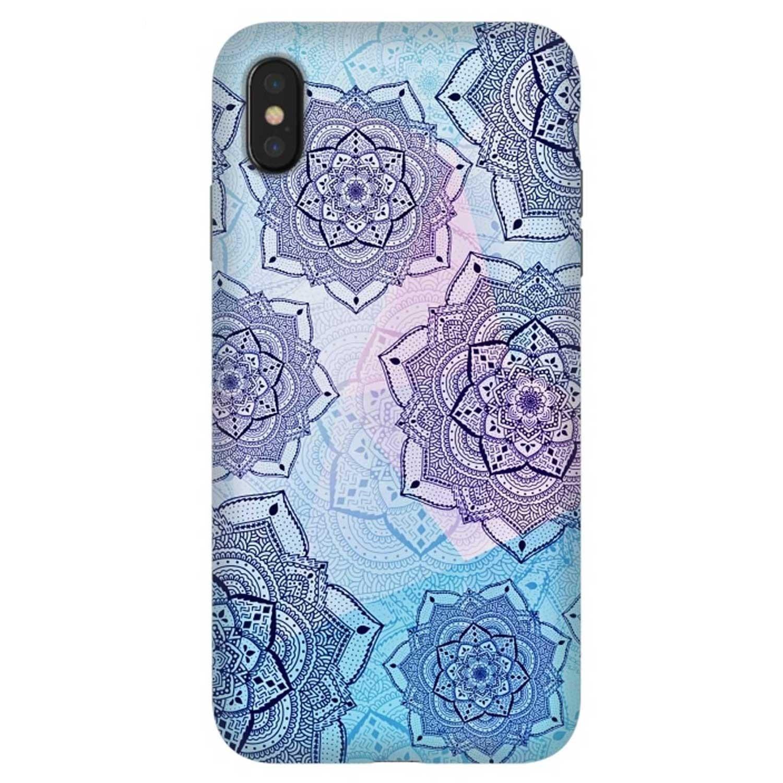 . Funda ARTSCASE StrongFit para iPhoneXS MAX Mandala Blue Purple
