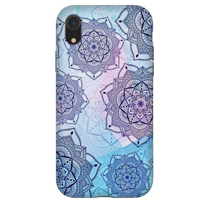 . Funda ARTSCASE StrongFit para iPhoneXR Mandalas Purple Blue