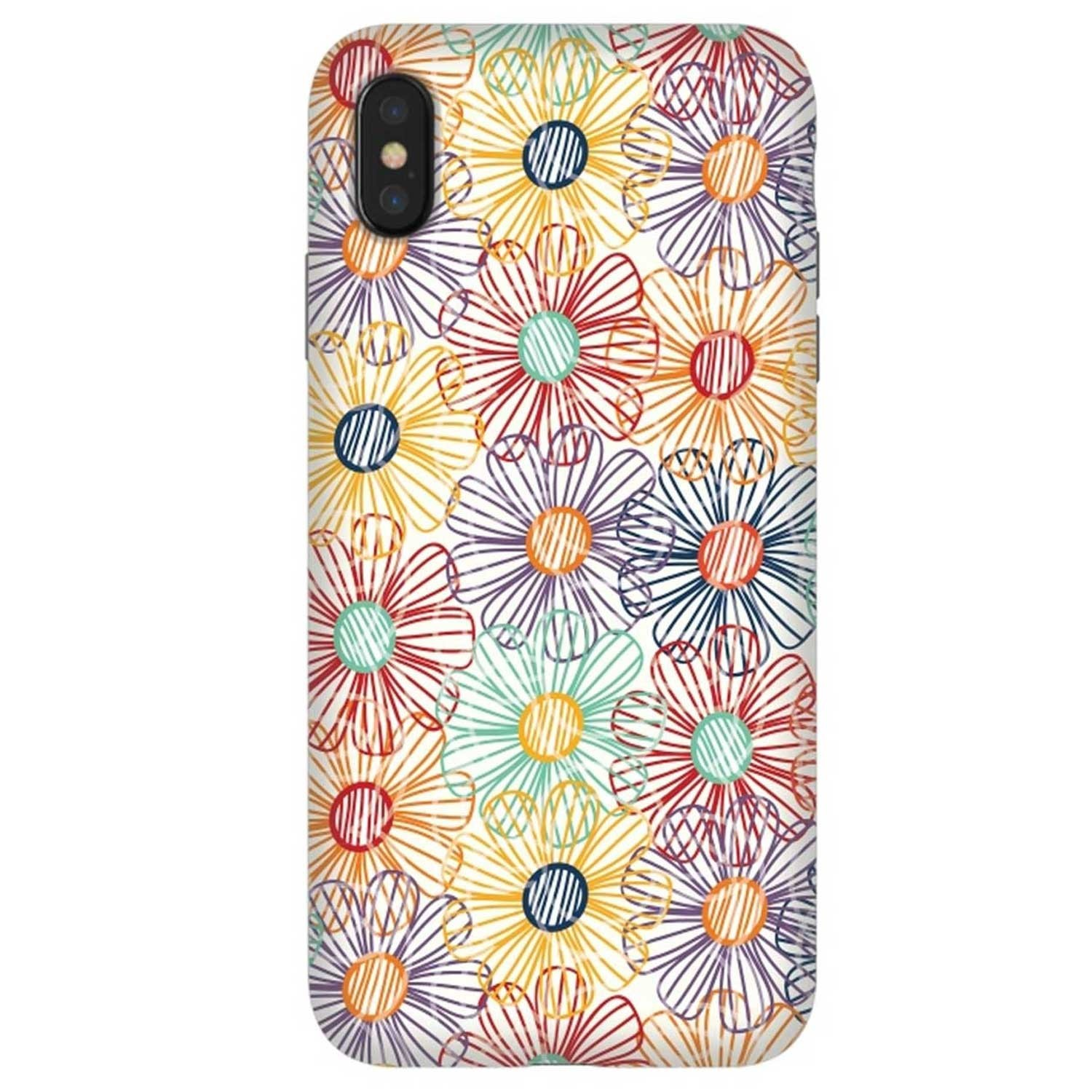 Case -  ArtsCase StrongFit for iPhone Xs MAX - Rainbow Floral