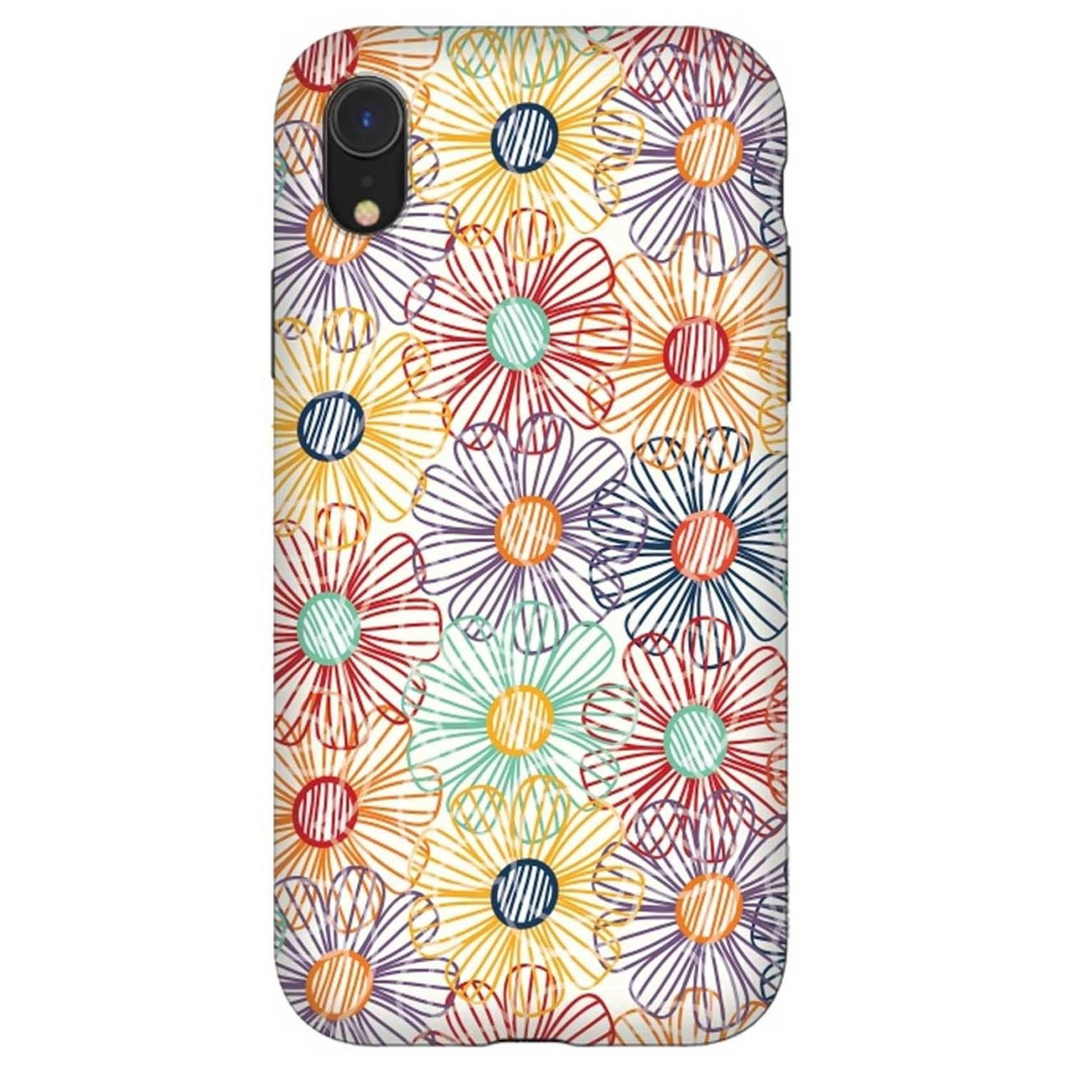 Case - ArtsCase StrongFit for iPhone  XR - Rainbow Floral