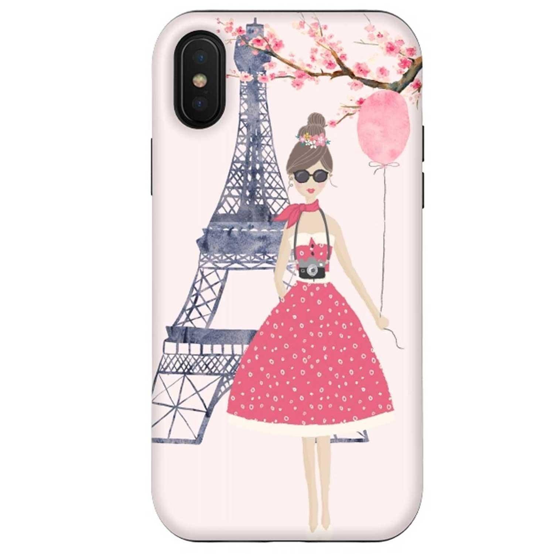 . Funda ARTSCASE StrongFit iPhone X y Xs Spring in Paris