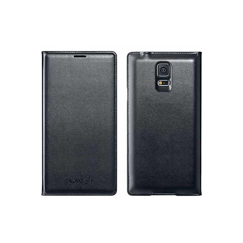 . Funda para SAMSUNG S5 Wallet Flip Negra OEM