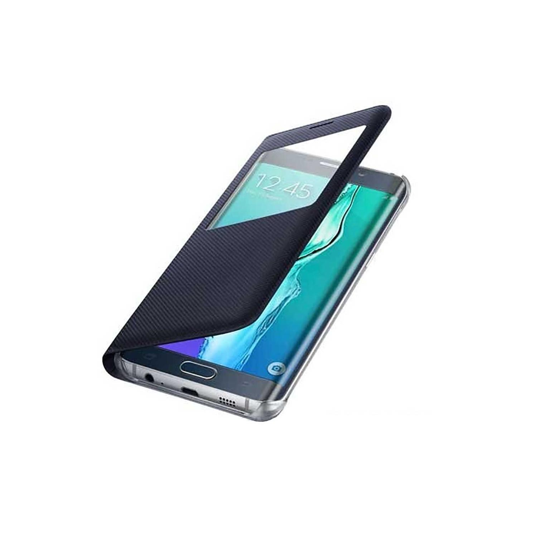 Case - Galaxy S6 edge+ Protective S-View Cover Black