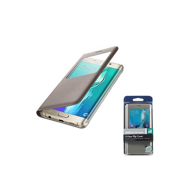 . Funda para SAMSUNG S6 EDGE PLUS Flip S-View Dorado