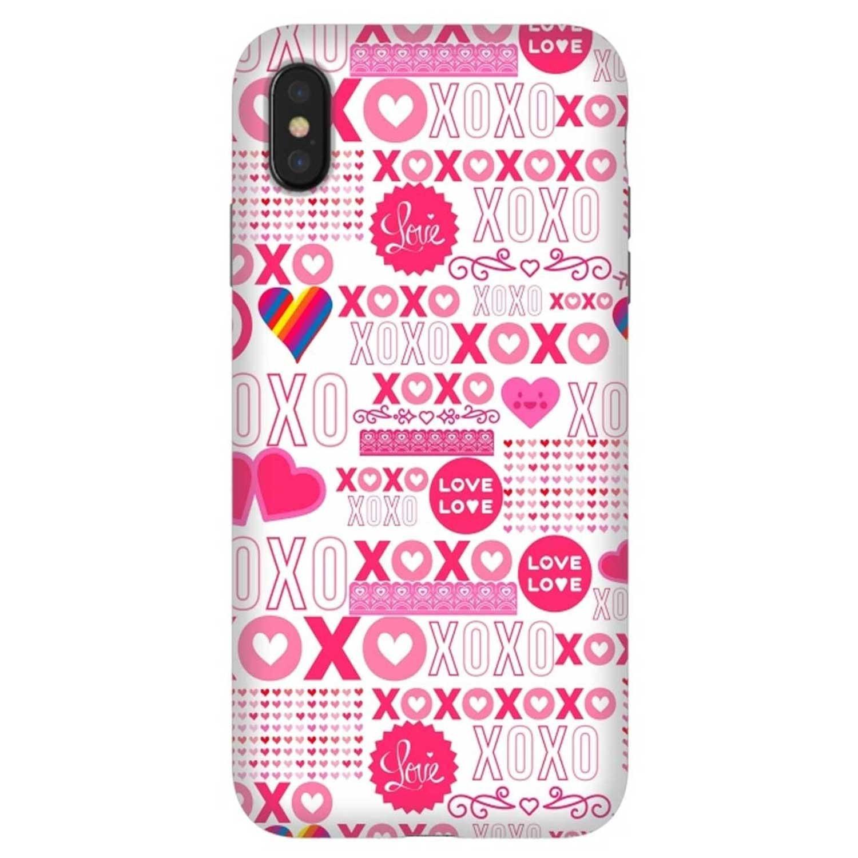 . Funda ARTSCASE StrongFit para iPhone X y Xs diseño XOXO