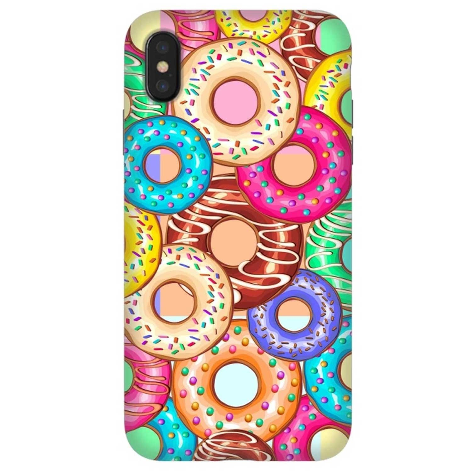 Case -  ArtsCase StrongFit for iPhone Xs MAX Donuts Punchy