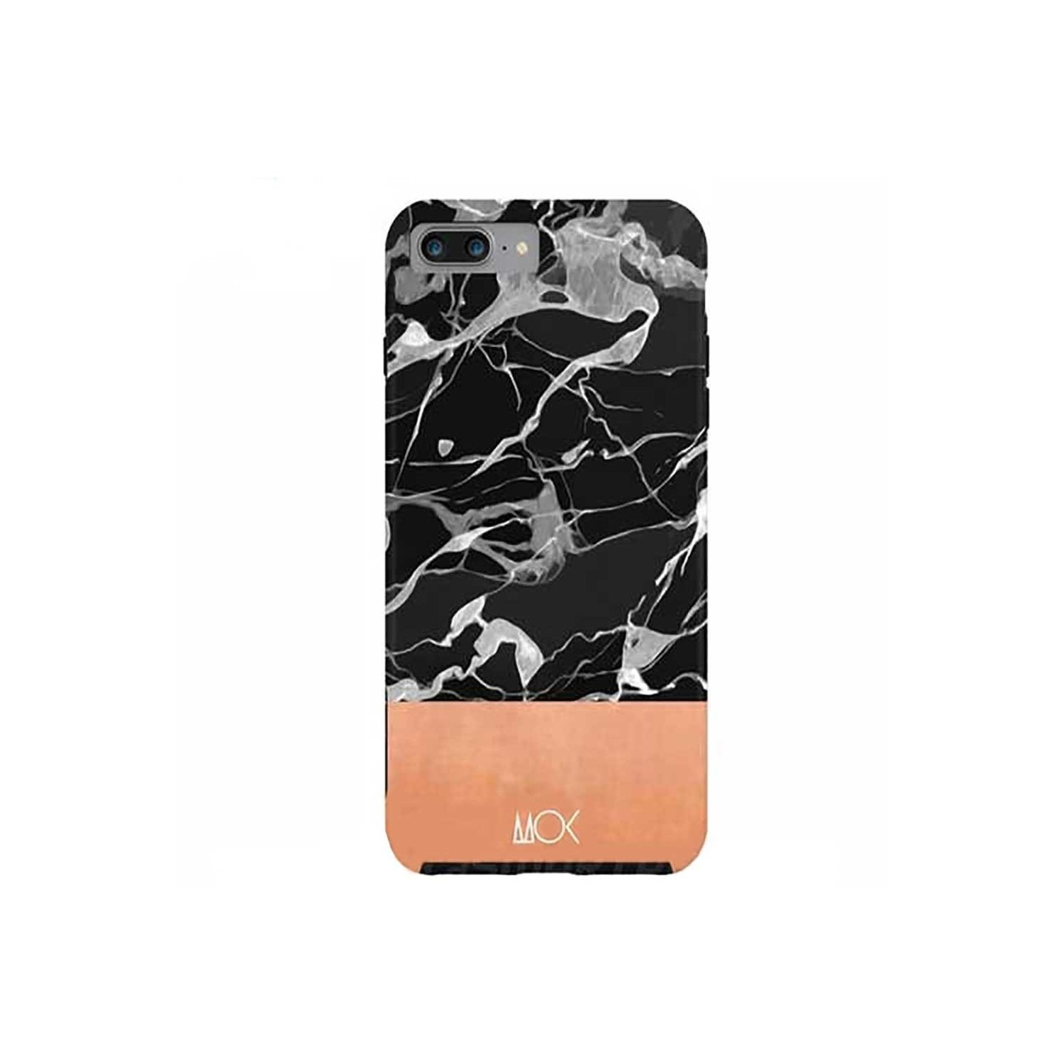 Case -  ArtsCase StrongFit for iPhone 7 PLUS Black Marble by MOK