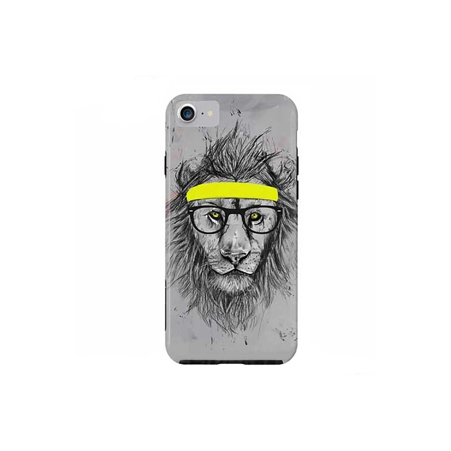 Case -  ArtsCase StrongFit for iPhone 7 Hipster Lion