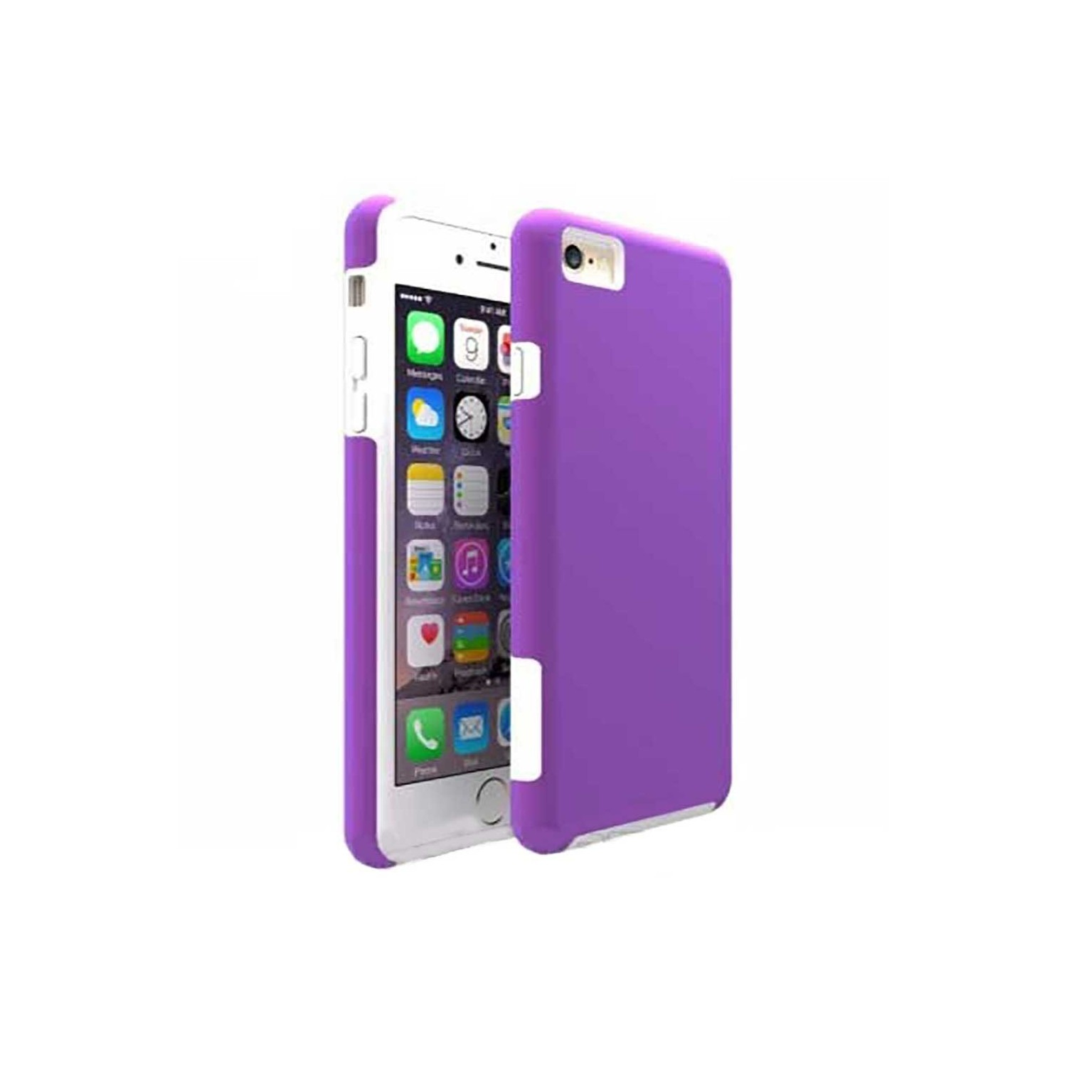 Case -  ArtsCase StrongFit for iPhone 6/6s Purple White