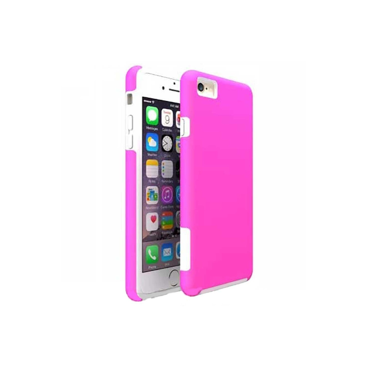 Case -  ArtsCase StrongFit for iPhone 6/6s Pink White