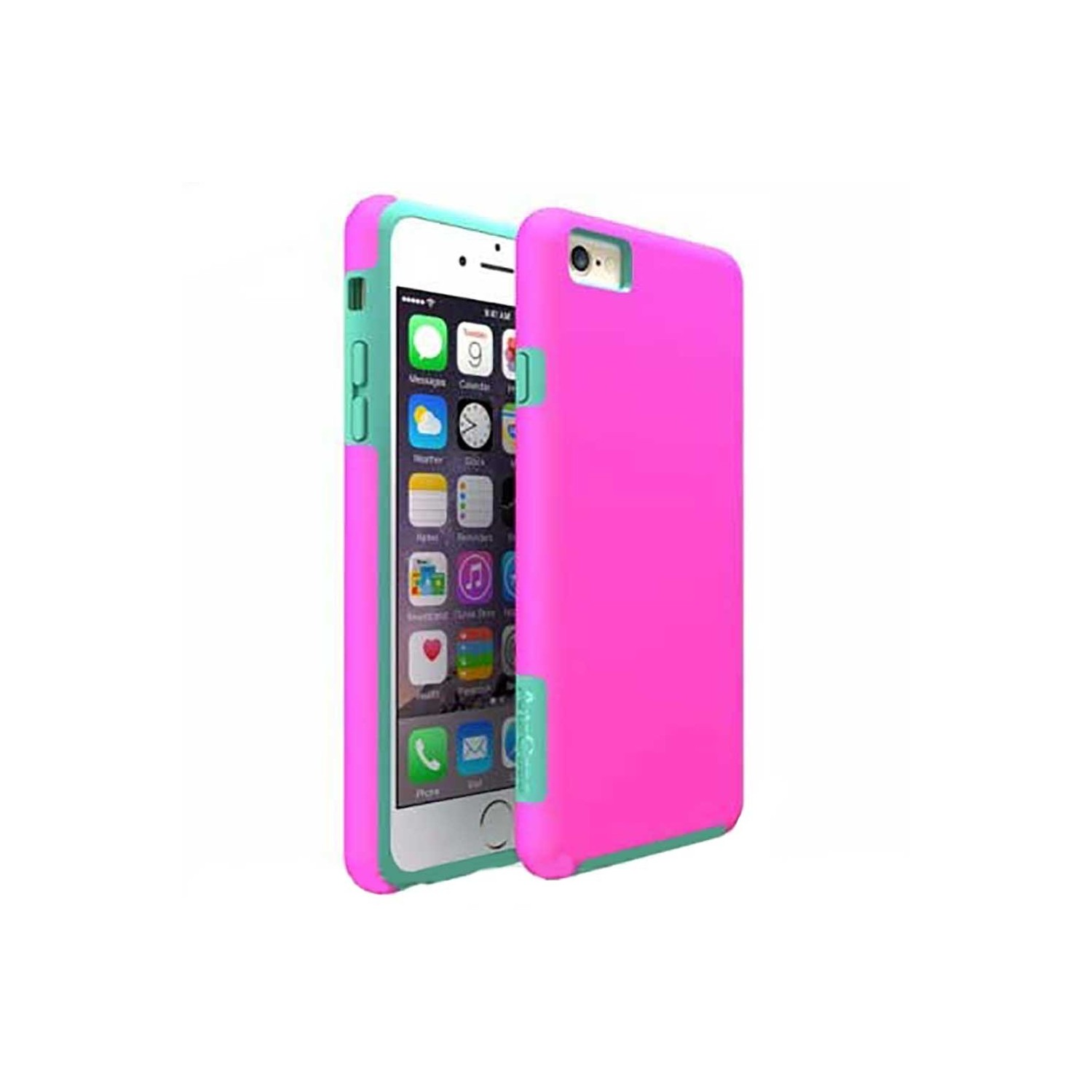 Case -  ArtsCase StrongFit for iPhone 6/6s Pink Aqua