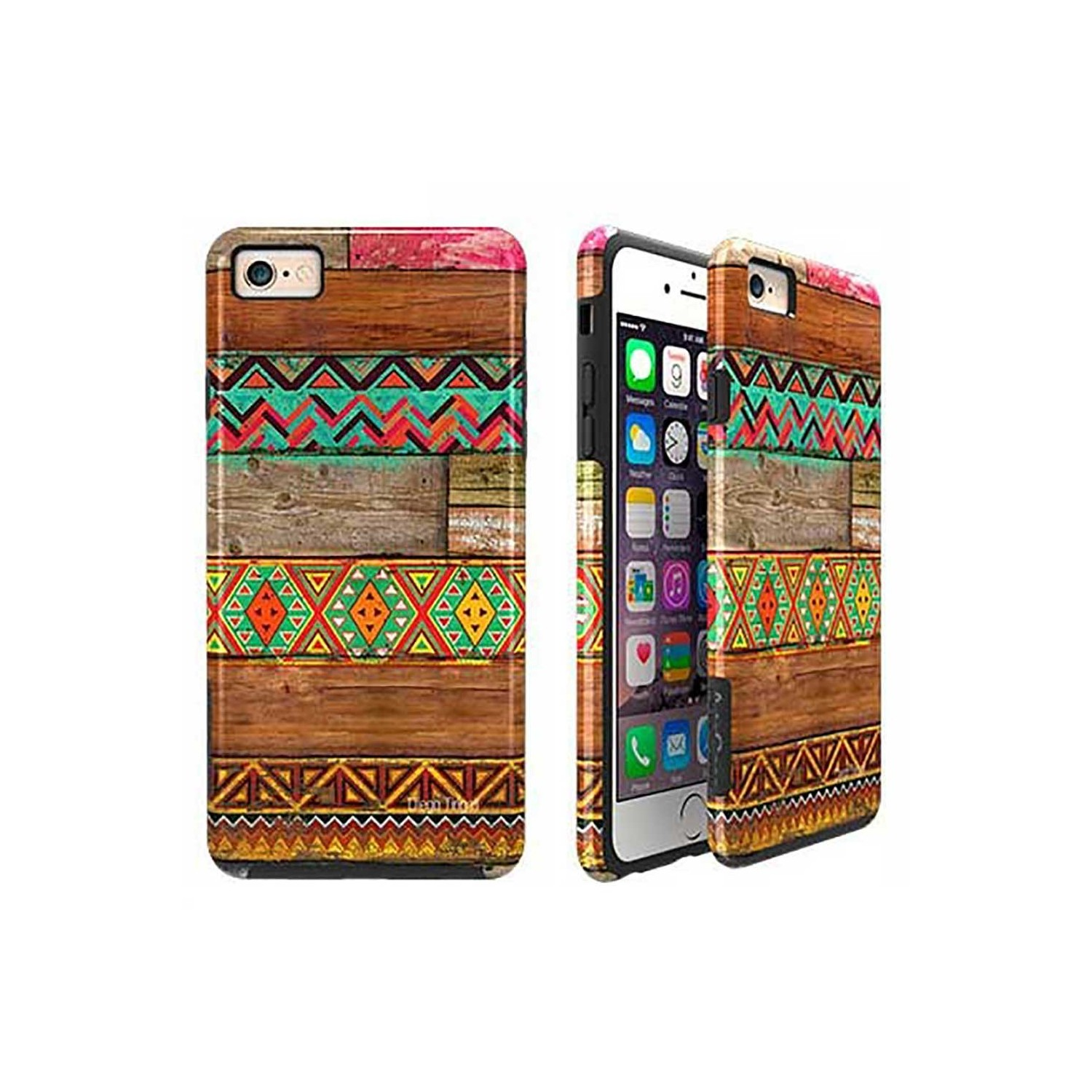 Case -  ArtsCase StrongFit for iPhone 6/6s Indian wood