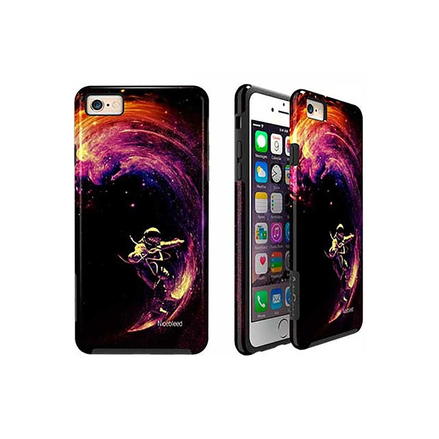Case -  ArtsCase StrongFit for iPhone 6/6s Space Surfing